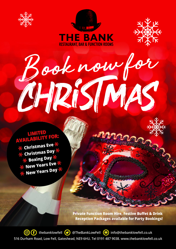 Christmas Restaurant Poster.Celebrate Christmas At The Bank The Bank Low Fell